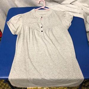Cute gray and black polka dot shirt